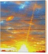 Sun Rise  Wood Print