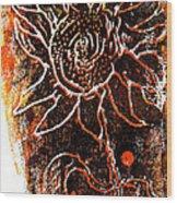 Sunflower  Wood Print by Jon Baldwin  Art