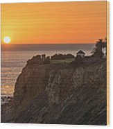 Sunset At Point Vincent Lighthouse Wood Print