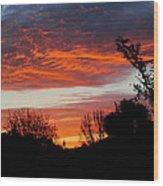 Sunset New Zealand Wood Print
