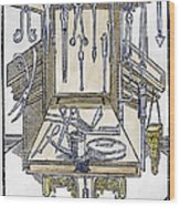 Surgical Instruments Wood Print