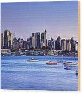 Sydney City Wood Print