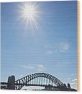 Sydney Harbour Bridge In Australia  Wood Print