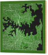 Sydney Street Map - Sydney Australia Road Map Art On Color Wood Print