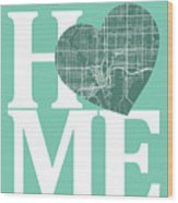 Tampa Street Map Home Heart - Tampa Florida Road Map In A Heart Wood Print