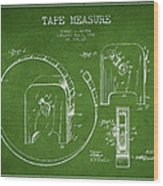 Tape Measure Patent Drawing From 1906 Wood Print