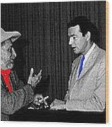 Ted Degrazia Dick Mayers Kvoa Tv Studio Polaroid By News Director Garry Greenberg January 1966 Wood Print