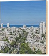 Tel Aviv Israel Elevated View Wood Print