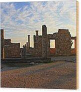 Temple Of Apollo Wood Print