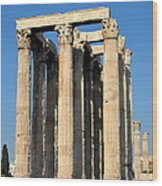 Temple Of Olympian Zeus In Athens Wood Print by George Atsametakis