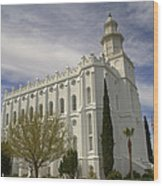 Temple Saint George Utah Wood Print