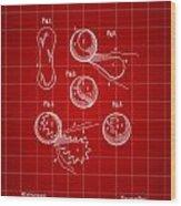 Tennis Ball Patent 1914 - Red Wood Print