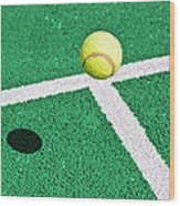 Tennis Ball Wood Print