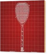 Tennis Racket Patent 1887 - Red Wood Print