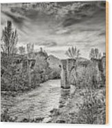 The Ancient Bridge At Ponte Novu In Corsica Wood Print