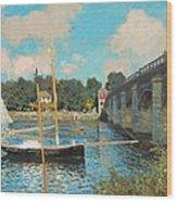The Bridge At Argenteuil Wood Print