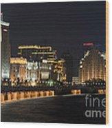 The Bund, Shanghai Wood Print