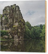 The Externsteine Wood Print