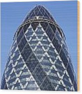 The Gherkin Building In London England Wood Print