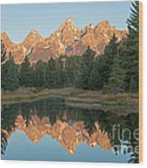 The Grand Tetons Schwabacher Landing Grand Teton National Park Wood Print