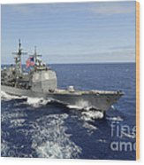 The Guided-missile Cruiser Uss Wood Print
