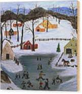 The Ice Pond Wood Print