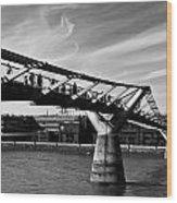 The Millenium Bridge Wood Print