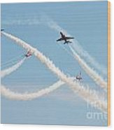 The Red Arrows Eastbourne Wood Print