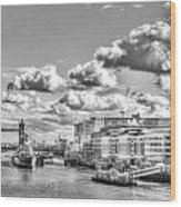 The River Thames Wood Print