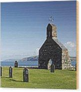 The Ruined Church Of St Brynach At Cwm Yr Eglwys Wood Print