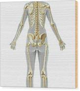 The Skeleton Female Wood Print