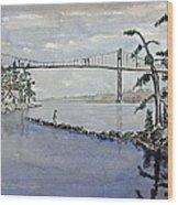 Thousand Islands Bridge Wood Print