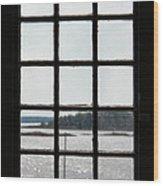Through An Old Window Wood Print