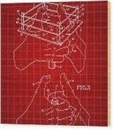 Thumb Wrestling Game Patent 1991 - Red Wood Print