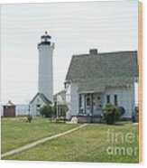 Tibbetts Point Light Wood Print by Kevin Croitz