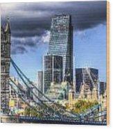 Tower Bridge And The City Wood Print