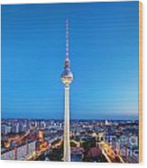 Tv Tower Or Fersehturm In Berlin Wood Print