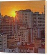 Twilight In Sao Paulo Wood Print