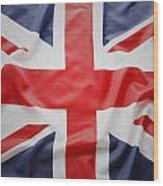 Uk Flag Wood Print