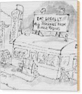 New Yorker November 24th, 2008 Wood Print