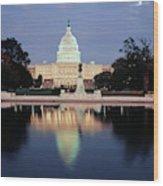 Usa, Washington Dc, Capitol Building Wood Print