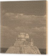 Uxmal Ruins Wood Print