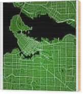 Vancouver Street Map - Vancouver Canada Road Map Art On Colored  Wood Print