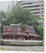 View From Chao Phraya River In Bangkok Wood Print
