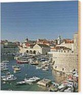 View Of Dubrovnik In Croatia Wood Print