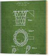 Vintage Basketball Goal Patent From 1951 Wood Print