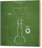 Vintage Bottle Neck Patent From 1891 Wood Print