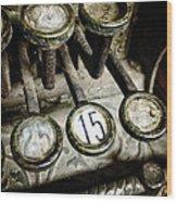 Vintage Cash Register Wood Print