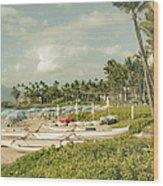 Wailea Beach Maui Hawaii Wood Print by Sharon Mau