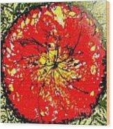 Wall Of Heavenly Flowers Wood Print